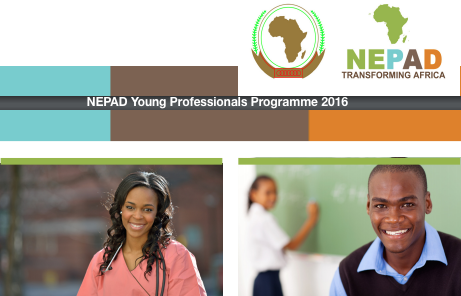 NEPAD Young Professionals Programme 2016 for Africans