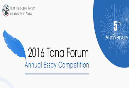 Tana Forum Essay Competition 2016 for Africans