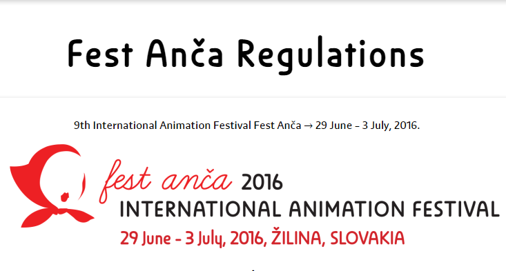 Enter the 9th International Animation Festival Fest Anča