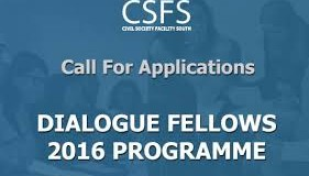 Call for Applications Dialogue Fellows – 2016 Programme (Fully Funded)