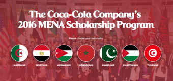Apply: Coca-Cola MENA Scholarship Program 2016 (For 100 Students)