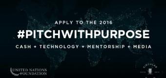 #PitchWithPurpose 2016 For Women Entrepreneurs ($10,000 Cash Award)
