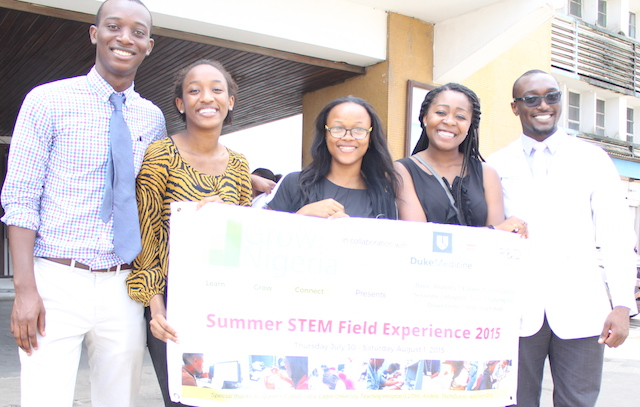Temini at the Summer STEM field experience