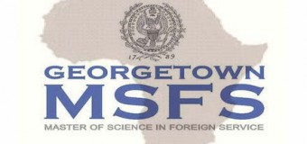 Georgetown University MSFS Scholarship for Africans 2017/19 (Full-Tuition Covered)