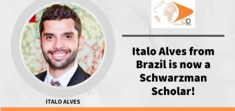 Italo Alves from Brazil is now a Schwarzman Scholar!