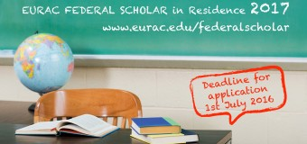 2017 EURAC Federal Scholar in Residence Program – Italy