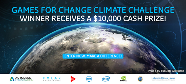 Games for Change Climate Challenge – Prize of $10,000 USD!