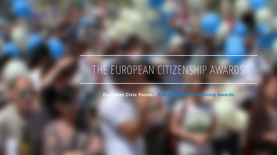 Nominations for the European Citizenship Awards 2016