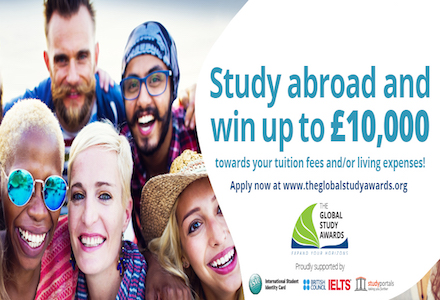 Global Study Award Scholarship 2016 (Study Abroad & Win up to £10,000 )
