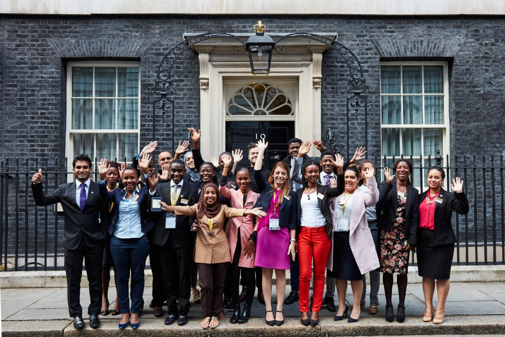 Imrana and other QYLs at No.10 Downing Street