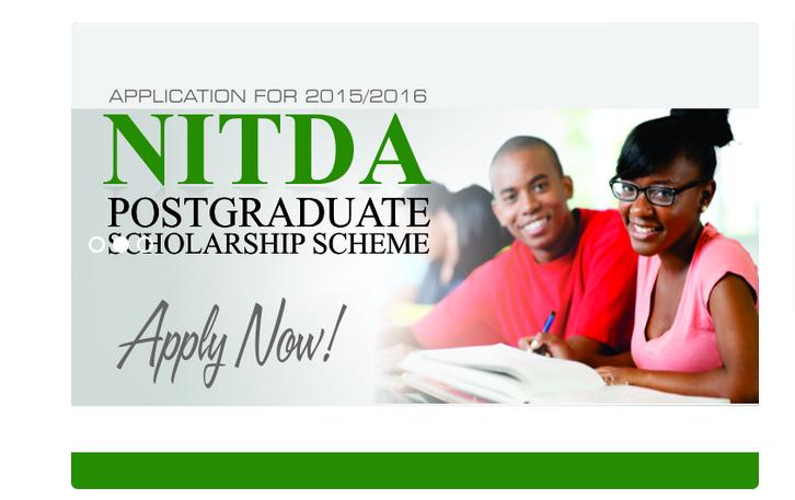 NITDA Postgraduate Scholarship Scheme 2016/2017