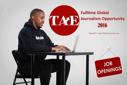 Full-time Global Journalism Opportunity at The African Exponent