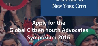 Global Citizen Youth Advocates Symposium 2016 – New York, USA (fully-funded)