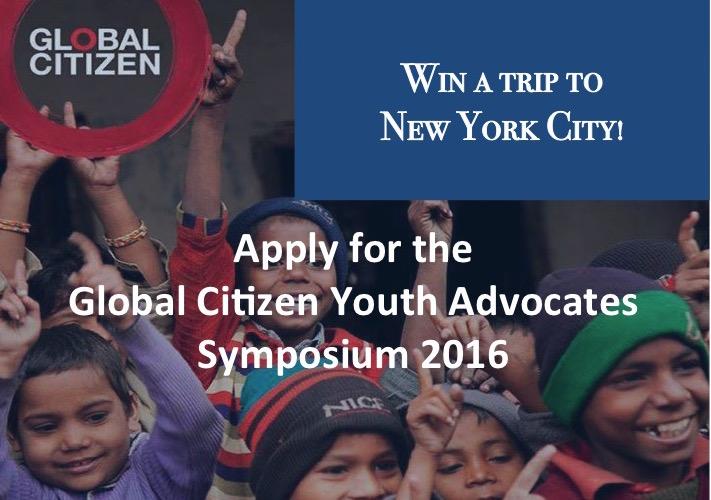 Global Citizen Youth Advocates Symposium 2016 – New York, USA (fully-funded)