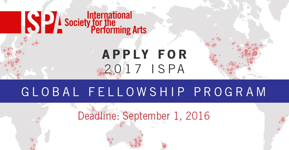 International Society for the Performing Arts Global Fellowship 2017