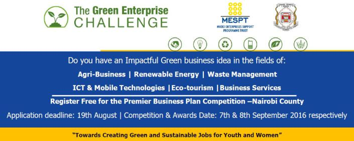 Enter the Green Enterprise Challenge 2016