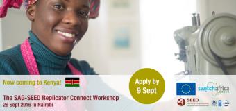 SAG-SEED Replicator Connect Workshop – Nairobi, Kenya