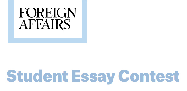 foreign policy essay contest 2013 The course describes the major elements of chinese foreign policy today, in the context of their development since 1949 we seek to understand the security-based.
