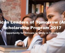 African Leaders of Tomorrow Scholarship Program 2017 to Study in Canada