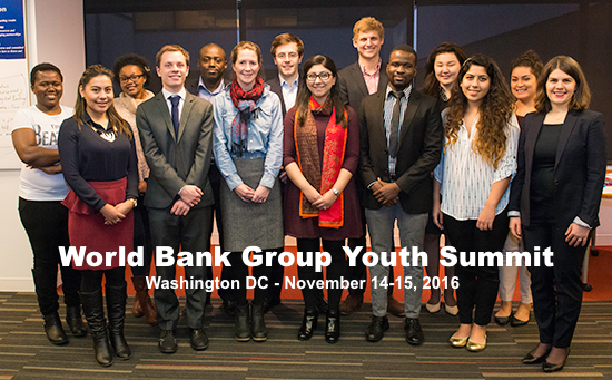 World Bank Group Youth Summit 2016: Apply to Pitch Your Ideas in Washington DC!
