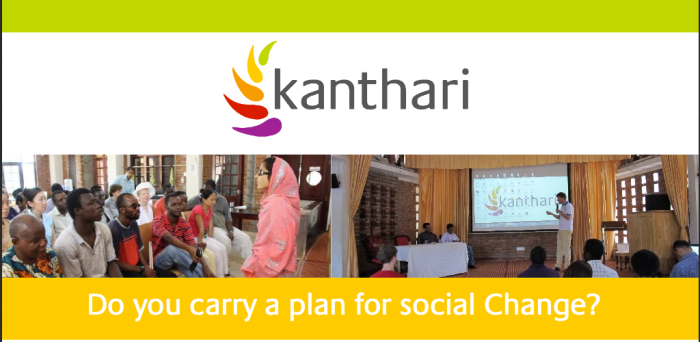 kanthari Course for Social Changemakers 2017 – Kerala, India (Funding Available)