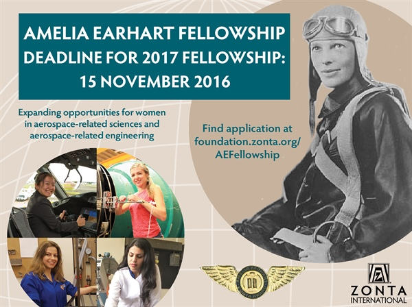 Zonta International Amelia Earhart Fellowship 2017