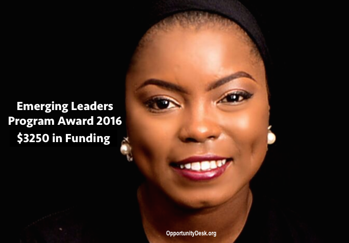 Emerging Leaders Program Award for Nigerian Students 2016 – $3250 in prizes