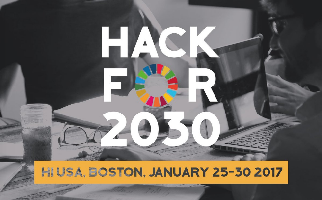 Hack for 2030 – Apply to join the Hackathon in Boston, USA 2017!
