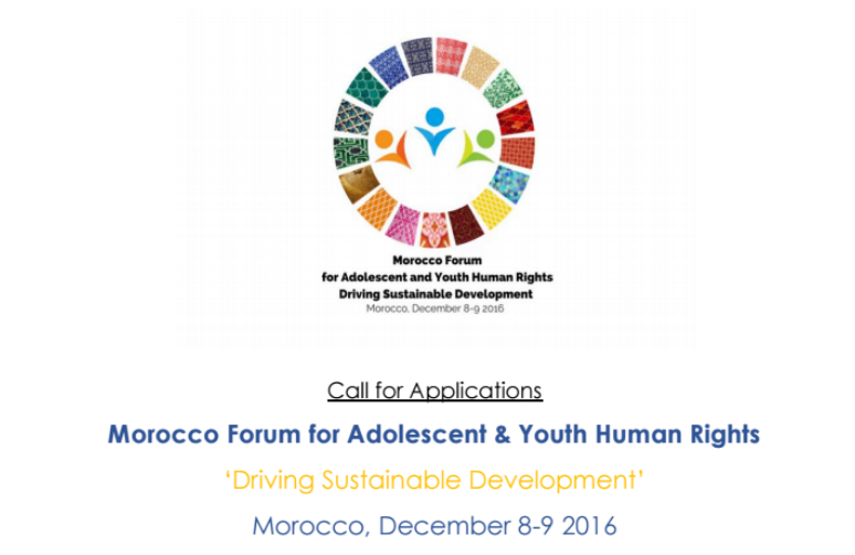 Morocco Forum for Adolescent & Youth Human Rights 2016 (Fully Funded)