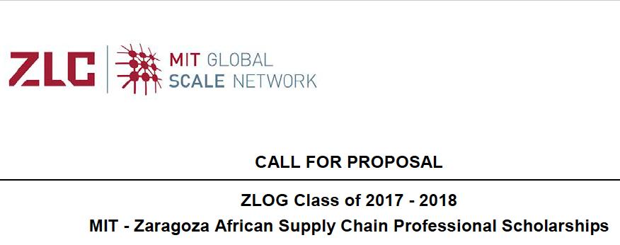 MIT-Zaragoza Scholarship Program 2017/18