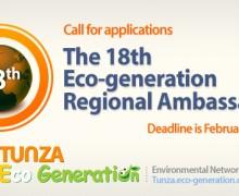 Apply: 18th Eco-generation Regional Ambassadors Program