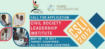 Call for Applications: Civil Society Leadership Institute 2017 in Accra, Ghana (fully-funded)