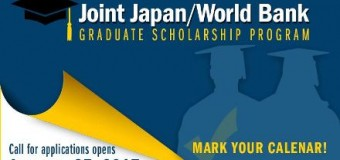 The Joint Japan/World Bank Graduate Scholarship Program 2017 (Fully-Funded)