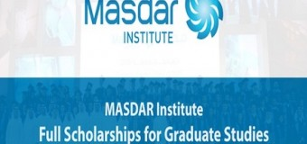 MASDAR Institute Postgraduate Scholarship Opportunities 2017 (Fully-Funded)