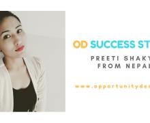 OD Success Story: Preeti Shakya from Nepal