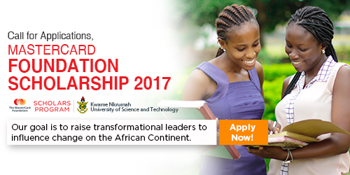 MasterCard Foundation Scholarship 2017 at KNUST in Ghana