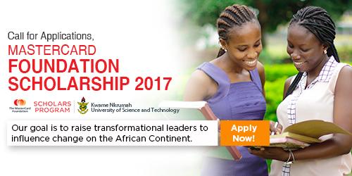 MasterCard Foundation Scholarship 2017 at KNUST in Ghana