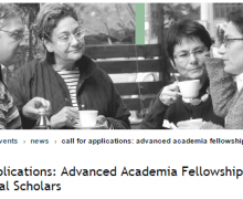 CAS Advanced Academia Fellowships 2018/2019