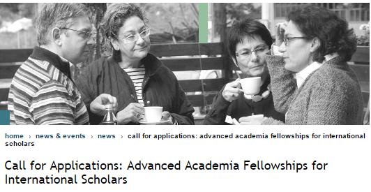 CAS Advanced Academia Fellowships 2018/2019