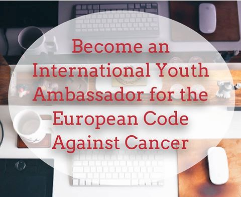 Become an International Youth Ambassador for the European Code Against Cancer