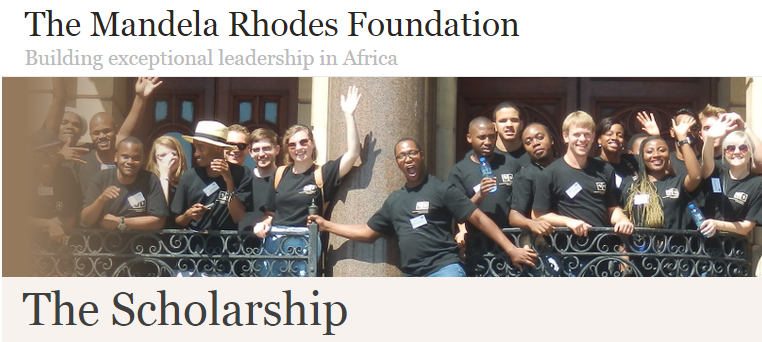 Mandela Rhodes Foundation Scholarships 2018