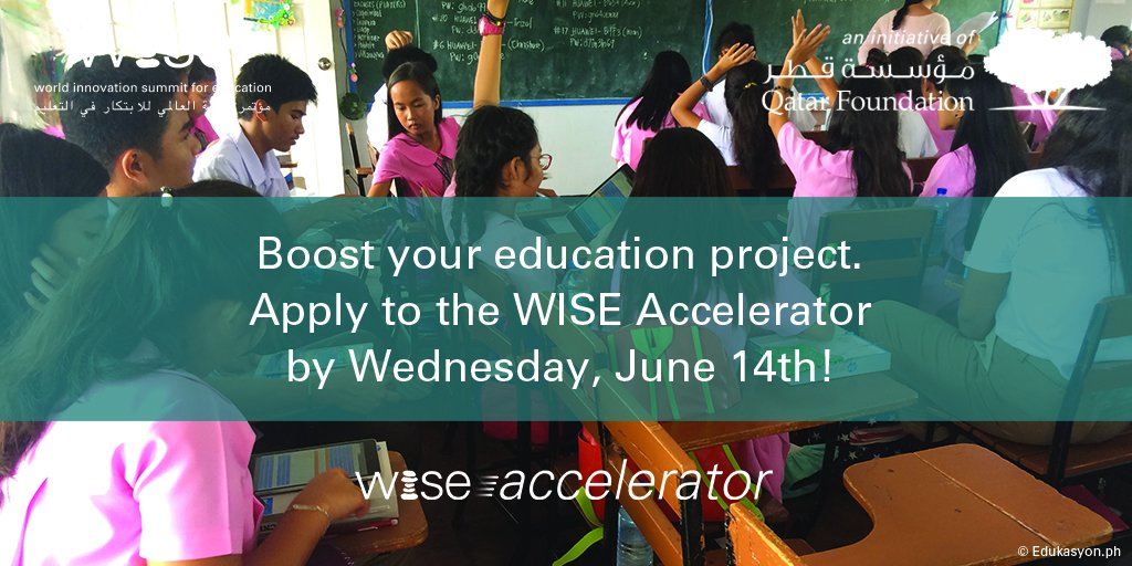 WISE Accelerator Program 2017/18 – Submit Innovative Education Technology Projects