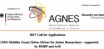 AGNES Mobility Grant for Junior Researchers 2017