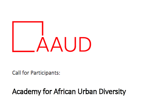 Call for Application: Academy for African Urban Diversity 2017