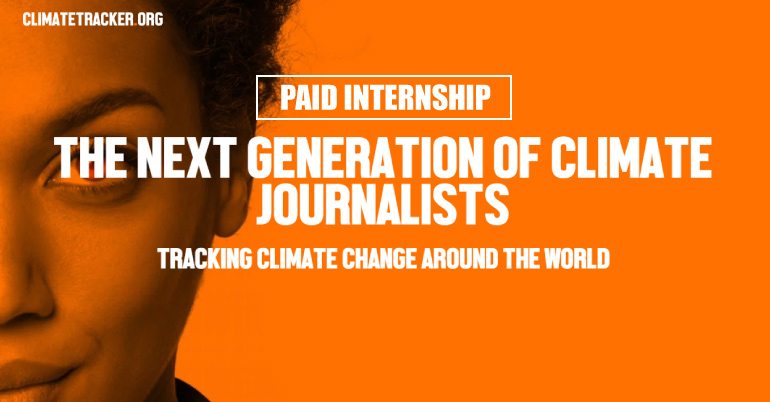 Climate Tracker Special Paid Fellowship 2017