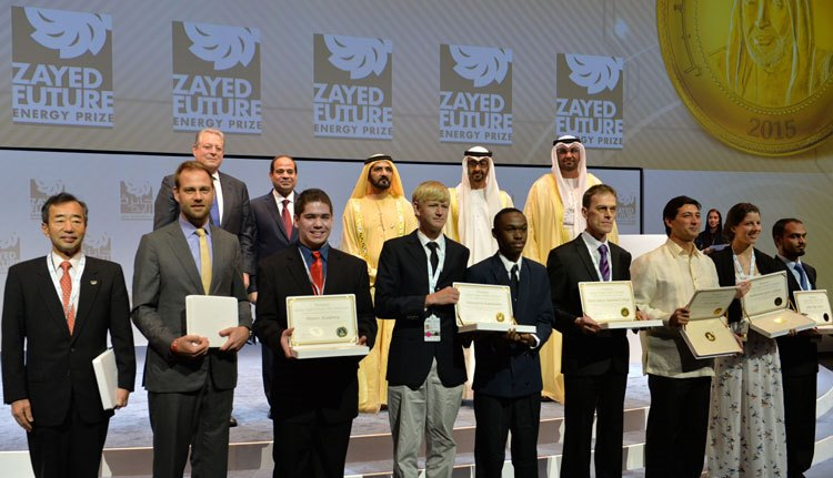 Zayed Future Energy Prize 2018 (Prize fund of USD $4 million)