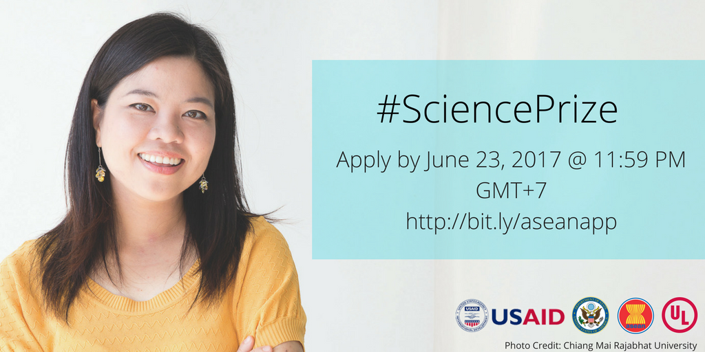 ASEAN-US Science Prize for Women 2017 (up to $25,000 prize)