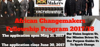 African Changemakers Fellowship Program 2017/18