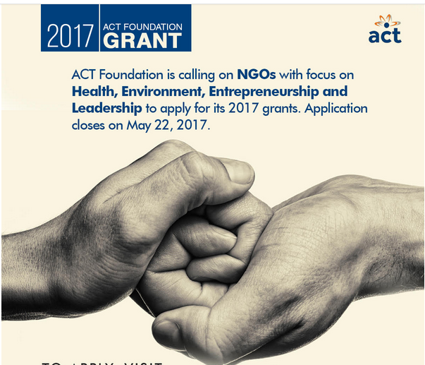 Aspire Coronation Trust (ACT) Foundation Grant 2017