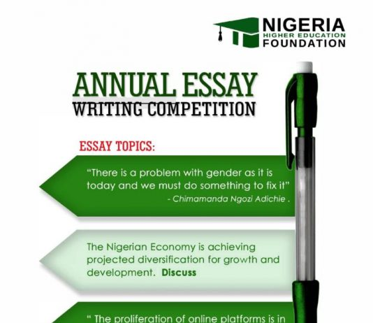 NHEF 3rd Annual Scholarship Essay Competition